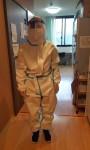 ニッケあすも加古川 「防護服を着用しての実践研修」の画像